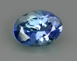 1.45 CTS GENUINE ULTRA RARE NATURAL OVAL BLUE TANZANITE~EXCELLENT!!