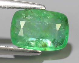 2.00 CTS EXCELLENT NATURAL ZAMBIAN EMERALD UNHEATED  CUSHION DAZZLING!!