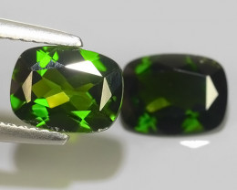 2.60 CTS BEAUTIFUL RARE HUGE NATURAL CHROME DIOPSIDE CUSHION RUSSIAN~
