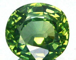 ~UNHEATED~ 1.02 Cts Natural Sapphire Beautiful Green Oval Madagascar