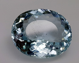 11.74CT NATURAL BLUE AQUAMARINE IGCSAA3