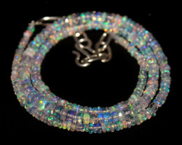 38 Crts Natural Ethiopian Welo White Opal Necklace 71