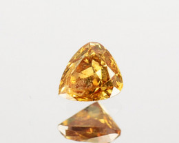 0.06Cts Natural Brownish yellow diamond Fancy