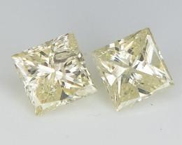0.38 ct , Pair of Natural Diamonds , Sparkling DIamonds
