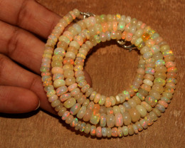 82 Crts Natural Ethiopian Welo Opal Necklace 187