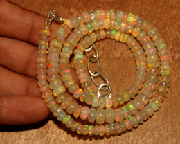 62 Crts Natural Ethiopian Welo Opal Necklace 197
