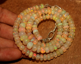 87 Crts Natural Ethiopian Welo Opal Necklace 192