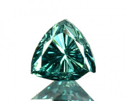 0.16Cts Natural Diamond Flashing Blue Fancy Trillion 3.3mm  Africa
