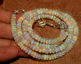 55 Crts Natural Ethiopian Welo Opal Necklace 195