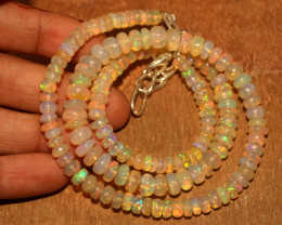 71 Crts Natural Ethiopian Welo Opal Necklace 763