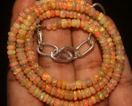 37 Crts Natural Ethiopian Welo Opal Necklace 765