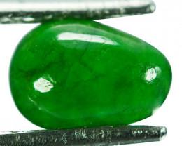 ~UNTREATED~ 1.92 Cts Natural Jade Cabochon Vivid Green Burmese