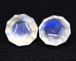 Moonstone 2.44Ct Master Cut Natural Ceylon Blue Moonstone Pairs BT0048