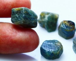 82 CTs Natural - Unheated Blue Sapphire Crystal  Rough Lot