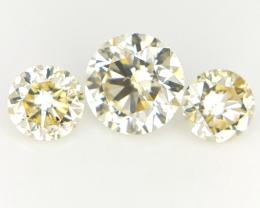 3 pcs/0.35 ct , Diamonds For Jewelry , Loose natural Diamonds