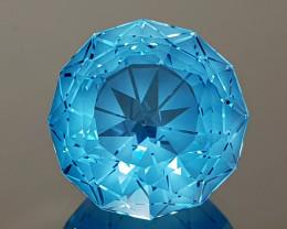 28.16CT NATURAL BLUE TOPAZ PRECISION CUT IGCTPP01