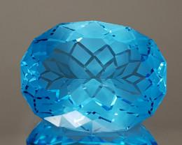 21.95CT NATURAL BLUE TOPAZ PRECISION CUT IGCTPP03