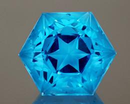 20.88CT NATURAL BLUE TOPAZ PRECISION CUT IGCTPP05