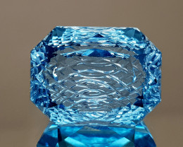 26.59CT NATURAL BLUE TOPAZ PRECISION CUT IGCTPP06