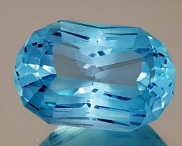 22.47CT NATURAL BLUE TOPAZ PRECISION CUT IGCTPP07