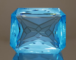 30.61CT NATURAL BLUE TOPAZ PRECISION CUT IGCTPP08