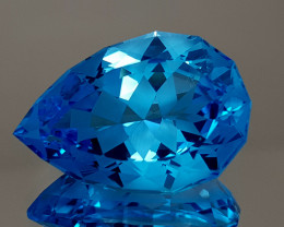 25.72CT NATURAL BLUE TOPAZ PRECISION CUT IGCTPP09