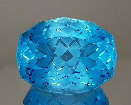 24.67CT NATURAL BLUE TOPAZ PRECISION CUT IGCTPP14