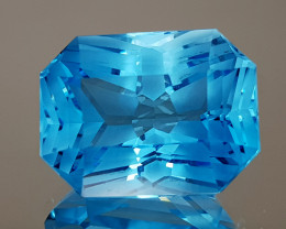23.96CT NATURAL BLUE TOPAZ PRECISION CUT IGCTPP15