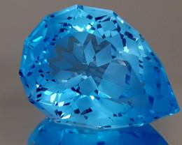22CT NATURAL BLUE TOPAZ PRECISION CUT IGCTPP21