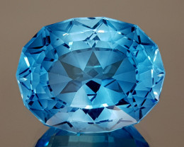 31.25CT NATURAL BLUE TOPAZ PRECISION CUT IGCTPP27
