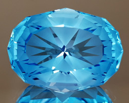 17.92CT NATURAL BLUE TOPAZ PRECISION CUT IGCTPP28