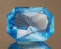 18.95CT NATURAL BLUE TOPAZ PRECISION CUT IGCTPP29