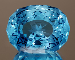 24.33CT NATURAL BLUE TOPAZ PRECISION CUT IGCTPP30