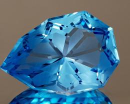 20.19CT NATURAL BLUE TOPAZ PRECISION CUT IGCTPP31