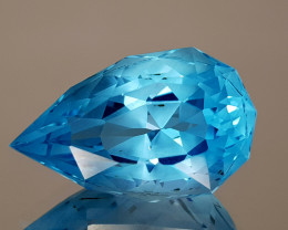 20CT NATURAL BLUE TOPAZ PRECISION CUT IGCTPP35