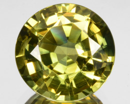 ~PRETTY~ 2.40 Cts Natural Sapphire Pastel Yellow Round Cut Madagascar