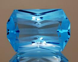 20.81CT NATURAL BLUE TOPAZ PRECISION CUT IGCTPP39
