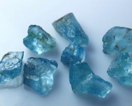 41.80 CTs Natural - Unheated Blue Aquamarine Rough Lot