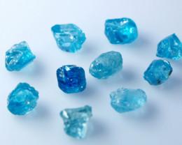 28.80 CTs Natural Blue Zircon Rough Lot