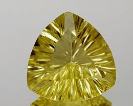 5.51Crt Lemon Quartz Concave Cut Natural Gemstones JI13