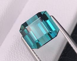 4.24 Cts Fine Grade Bright Blue Indicolite Natural Tourmaline Custom Cut