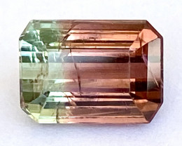 4.78Ct Tourmaline Bi-Colour Beautiful Faceted Gemstone. BTM 03