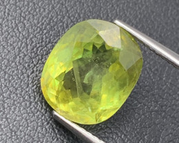 5.22 Cts Olive Green Fine Quality Top Fire Natural Sphene