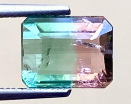1.62Ct Tourmaline Bi-Colour Beautiful Faceted Gemstone. BTM 07