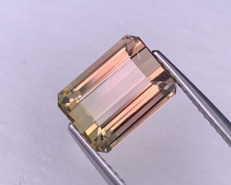 3.86 Cts Baby Pink/Peach Bi Color Top Quality Natural Tourmaline