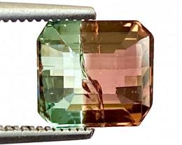 1.97Ct Tourmaline Bi-Colour Beautiful Faceted Gemstone. BTM 09