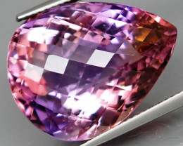 25.55 ct. Natural Top Nice Purple Ametrine Unheated Brazil - IGE Сertified