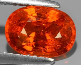 2.90 CTS ELEGANT HOT ORANGE NATURAL SPESSARTITE GARNET OVAL!!!
