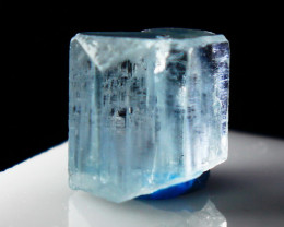 12.20 CTs Natural - Unheated Blue Aquamarine Crystal