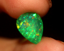 0.60 Crt Natural Ethiopian Welo Faceted Green Opal  386